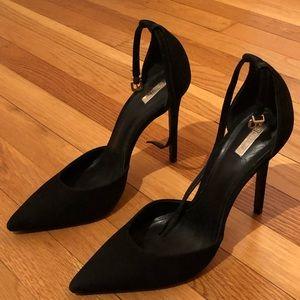 SCHUTZ suede black ankle strap pumps! The Irma!